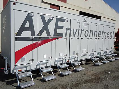 gamme AXE BTP - Douches